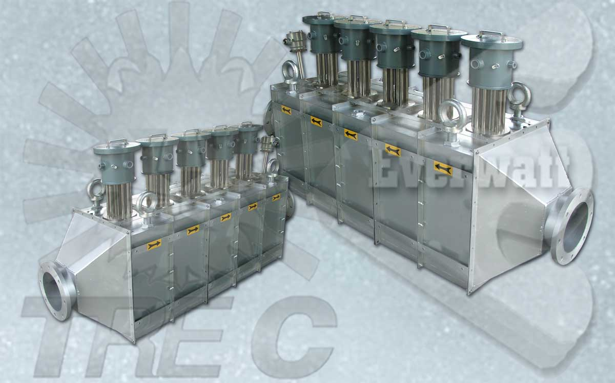Air Duct Electric Heaters With Explosion Proof Atex