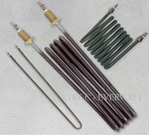 Air heating elements with smooth surface