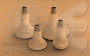 Ceramic infrared bulbs
