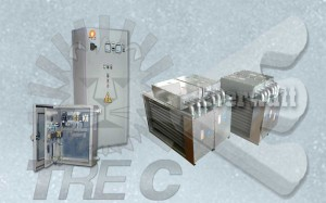 Air heating batteries and control panels (secure area)